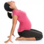 Asian pregnant woman doing yoga-198x169